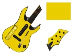 Guitar Hero 5 Genericaster Guitar for the Wii Skin :: Yellow