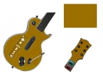 Guitar Hero 3 Les Paul Guitar for the Nintendo Wii Skin :: Gold