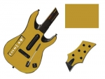 Guitar Hero 5 Genericaster Guitar for the Wii Skin :: Gold
