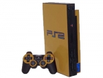Sony PlayStation 2 Skin :: Gold