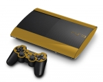 Sony PlayStation 3 Super Slim Skin :: Gold