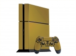 Sony PlayStation 4 Skin :: Gold