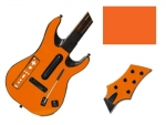 Guitar Hero 5 Genericaster Guitar for the Wii Skin :: Orange