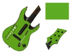 Guitar Hero 5 Genericaster Guitar for the Wii Skin :: Yellow Green