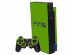 Sony PlayStation 2 Skin :: Yellow Green