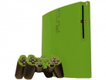 Sony PlayStation 3 Slim Skin :: Yellow Green