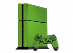 Sony PlayStation 4 Skin :: Yellow Green