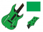 Guitar Hero 5 Genericaster Guitar for the Wii Skin :: Green