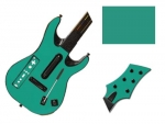Guitar Hero 5 Genericaster Guitar for the Wii Skin :: Turquoise