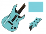 Guitar Hero 5 Genericaster Guitar for the Wii Skin :: Ice Blue