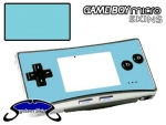 Nintendo Gameboy Micro Skin :: Ice Blue