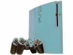 Sony PlayStation 3 Slim Skin :: Ice Blue