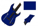 Guitar Hero 5 Genericaster Guitar for the Wii Skin :: Cobalt Blue