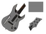 Guitar Hero 5 Genericaster Guitar for the Wii Skin :: Silver