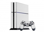 Sony PlayStation 4 Skin :: 3D Carbon White