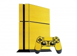 Sony PlayStation 4 Skin :: 3D Carbon Yellow
