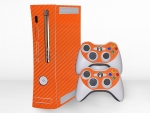 Microsoft Xbox 360 (1st Gen) Skin :: 3D Carbon Orange