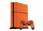 Sony PlayStation 4 Skin :: 3D Carbon Orange