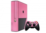 Microsoft Xbox 360 (3rd Gen) Skin :: 3D Carbon Soft Pink