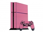 Sony PlayStation 4 Skin :: 3D Carbon Soft Pink
