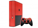 Microsoft Xbox 360 (3rd Gen) Skin :: 3D Carbon Fire Red