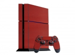 Sony PlayStation 4 Skin :: 3D Carbon Maroon Red