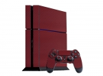 Sony PlayStation 4 Skin :: 3D Carbon Burgundy