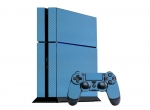 Sony PlayStation 4 Skin :: 3D Carbon Sky Blue