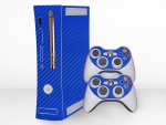 Microsoft Xbox 360 (1st Gen) Skin :: 3D Carbon Candy Blue
