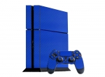 Sony PlayStation 4 Skin :: 3D Carbon Candy Blue