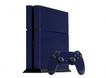 Sony PlayStation 4 Skin :: 3D Carbon Navy Blue