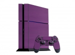 Sony PlayStation 4 Skin :: 3D Carbon Purple