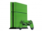 Sony PlayStation 4 Skin :: 3D Carbon Lime Green