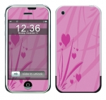 Apple iPhone Skin :: Floating Hearts
