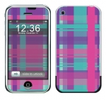 Apple iPhone Skin :: Candy Shop Plaid