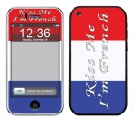 Apple iPhone 3 Skin :: Kiss Me French