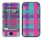 Apple iPhone 3 Skin :: Candy Shop Plaid