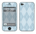 Apple iPhone 4 Skin :: Argyle Blue