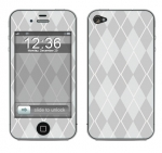 Apple iPhone 4 Skin :: Argyle Gray