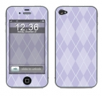 Apple iPhone 4 Skin :: Argyle Purple
