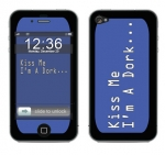 Apple iPhone 4 Skin :: Kiss Me Dork