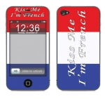 Apple iPhone 4 Skin :: Kiss Me French