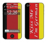 Apple iPhone 4 Skin :: Kiss Me German
