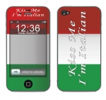 Apple iPhone 4 Skin :: Kiss Me Italian