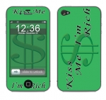 Apple iPhone 4 Skin :: Kiss Me Rich