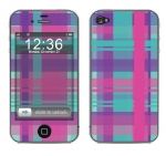 Apple iPhone 4 Skin :: Candy Shop Plaid