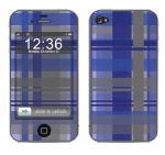 Apple iPhone 4 Skin :: Oceans Deep Plaid