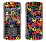 BlackBerry Pearl 8100 Skin :: Alphabet Soup
