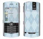 BlackBerry Pearl 8100 Skin :: Argyle Blue