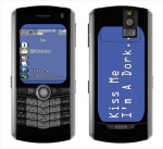 BlackBerry Pearl 8100 Skin :: Kiss Me Dork